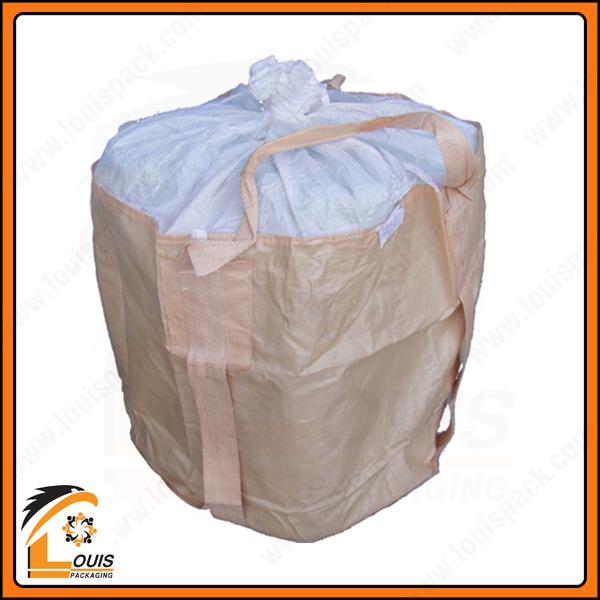 Bao jumbo đai (quai) choàng đáy là mẫu bao jumbo phù hợp cho sản phẩm tải trọng nặng