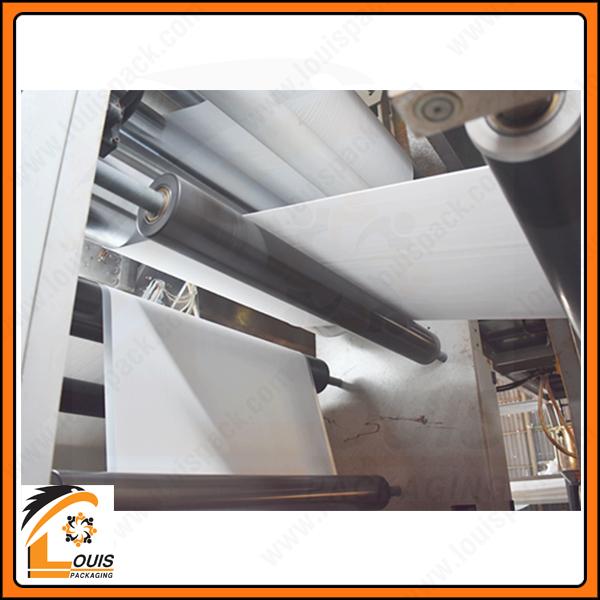 Máy tráng phục vụ cho việc sản xuất các sản phẩm bao jumbo có tráng, chống ẩm, chống xì