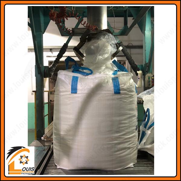 Bao jumbo đựng hóa chất hoặc khoáng sản dạng bột thường sử dụng túi lồng PE để chống xì