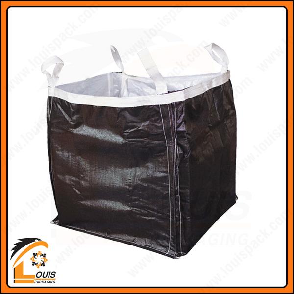 Bao jumbo đựng than thường có màu đen hoặc beige để hạn chế bụi than bám làm bẩn bao