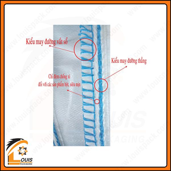 Đường may chống xì kỹ thuật cao của nhà sản xuất bao jumbo Louispack